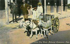 Wasserauslieferung in Caimanera, Cuba 1911